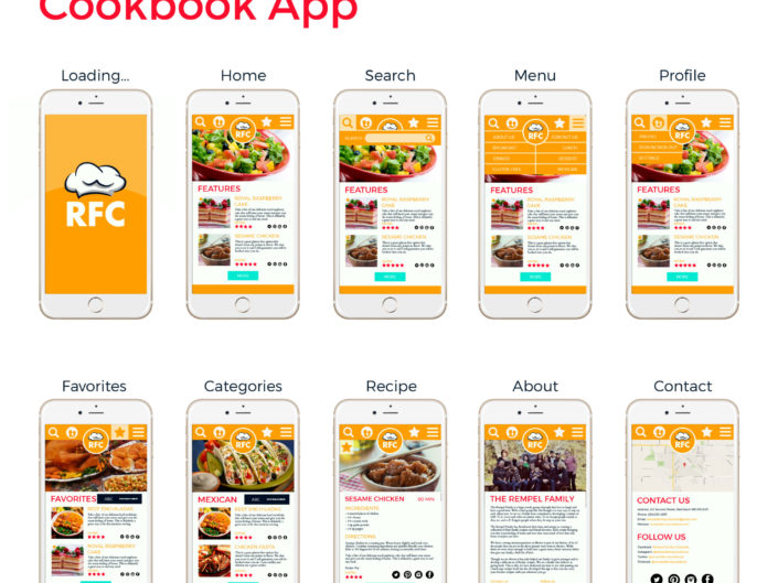 RFC Recipe App Design